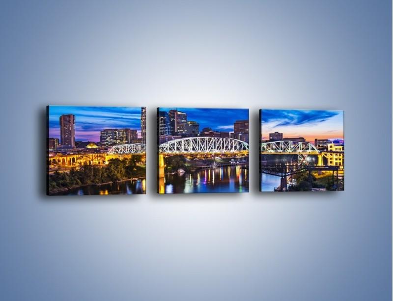 Obraz na płótnie – Most Shelby Street w Nashville – trzyczęściowy AM489W1