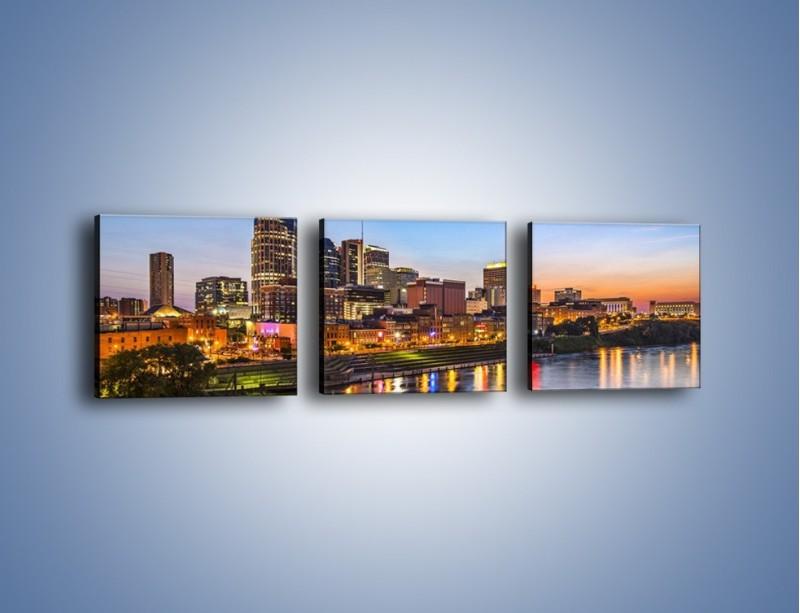 Obraz na płótnie – Nashville nad rzeką Cumberland – trzyczęściowy AM491W1