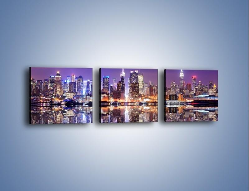 Obraz na płótnie – Panorama Midtown Manhattan – trzyczęściowy AM492W1
