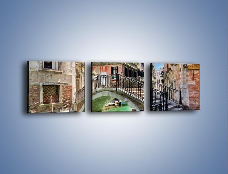 Obraz na płótnie – Wenecki most – trzyczęściowy AM523W1