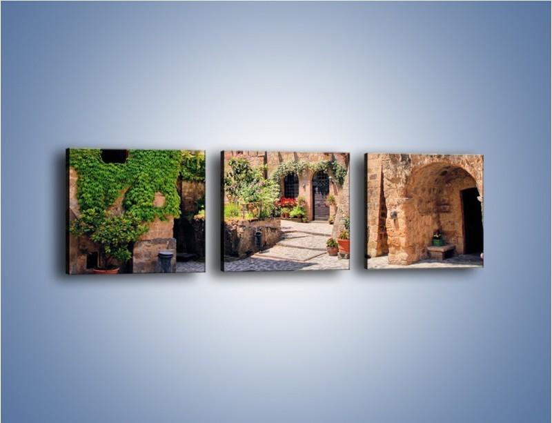 Obraz na płótnie – Romantyczna uliczka we Włoszech – trzyczęściowy AM533W1