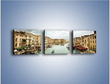 Obraz na płótnie – Cieśnina Canal Grande w Wenecji – trzyczęściowy AM559W1