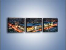 Obraz na płótnie – Centrum kongresowe CNCC w Chinach – trzyczęściowy AM575W1