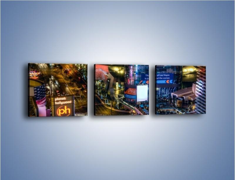 Obraz na płótnie – Cosmopolitan of Las Vegas – trzyczęściowy AM577W1