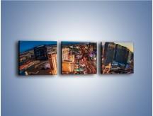 Obraz na płótnie – Centrum Las Vegas – trzyczęściowy AM588W1