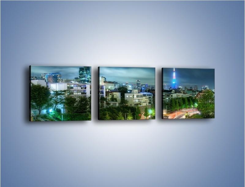 Obraz na płótnie – Miasto Roppongi w Japonii – trzyczęściowy AM593W1