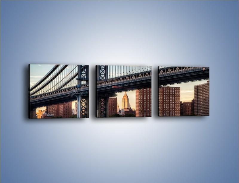 Obraz na płótnie – Manhattan Bridge – trzyczęściowy AM607W1