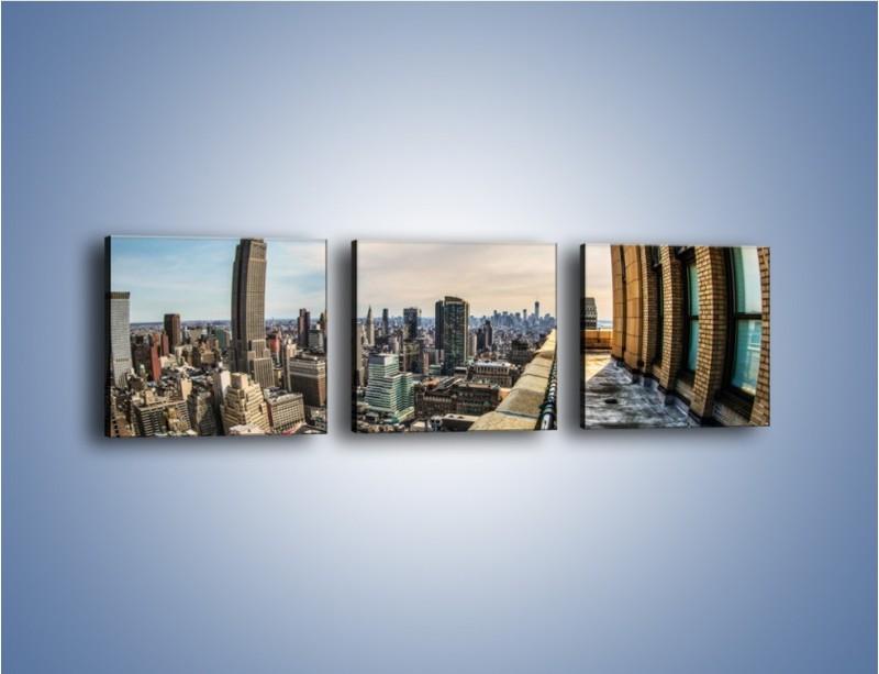 Obraz na płótnie – Empire State Building na Manhattanie – trzyczęściowy AM610W1