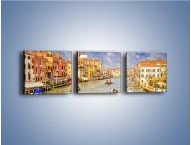 Obraz na płótnie – Canal Grande w Wenecji o poranku – trzyczęściowy AM617W1