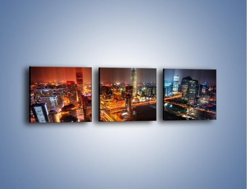 Obraz na płótnie – Niesamowite kolory Pekinu – trzyczęściowy AM632W1