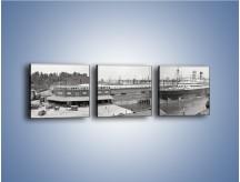Obraz na płótnie – Amerykańskie doki na początku XX wieku – trzyczęściowy AM641W1