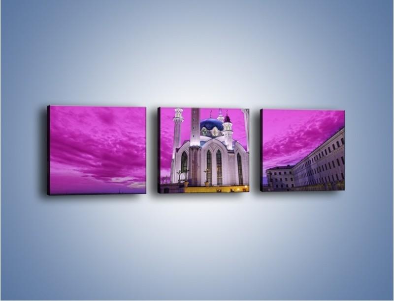 Obraz na płótnie – Meczet Kul Szarif – trzyczęściowy AM642W1