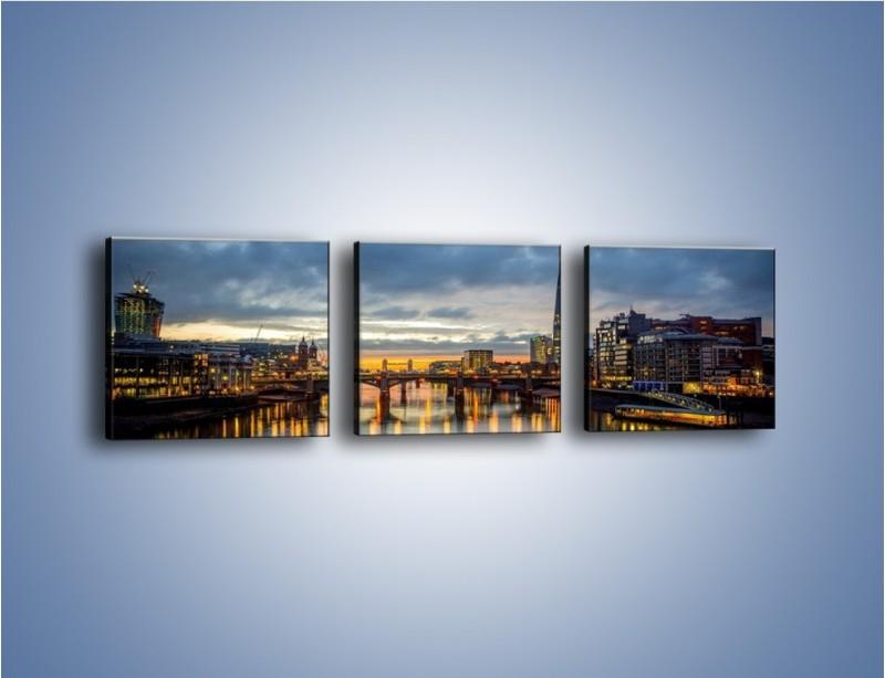 Obraz na płótnie – Millennium Bridge w Londynie – trzyczęściowy AM651W1