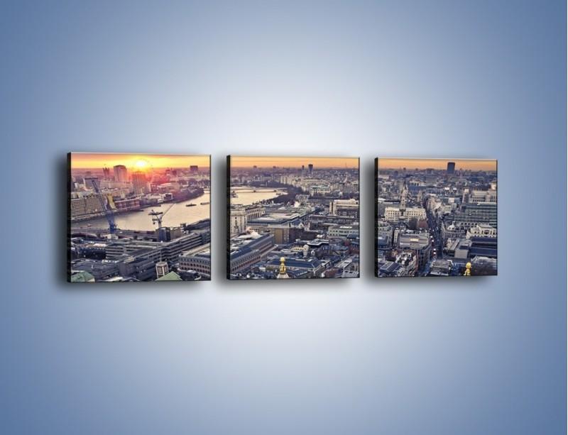 Obraz na płótnie – Widok na Londyn z Katedry św. Pawła – trzyczęściowy AM652W1