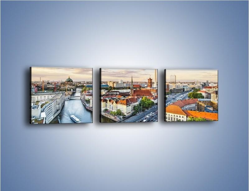 Obraz na płótnie – Panorama Berlina – trzyczęściowy AM673W1