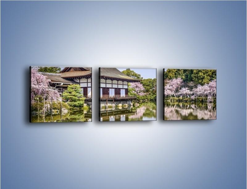 Obraz na płótnie – Świątynia Heian Shrine w Kyoto – trzyczęściowy AM677W1