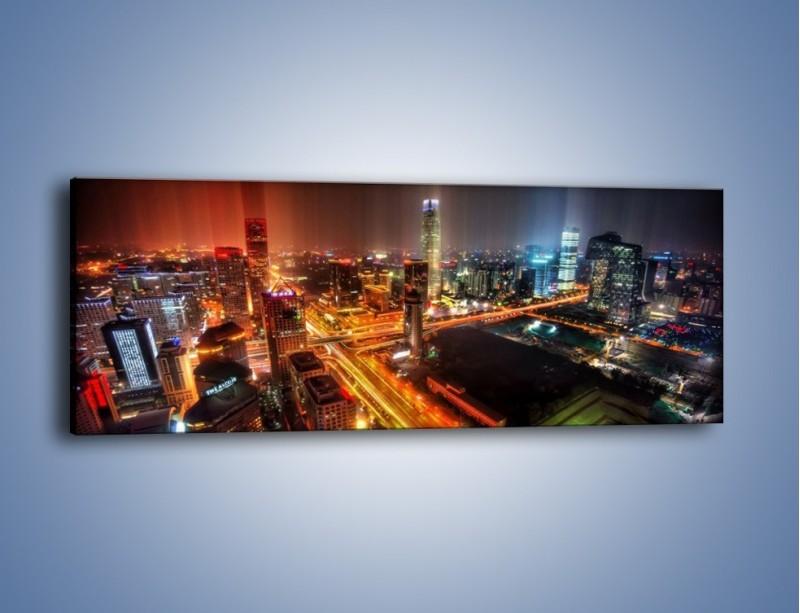 Obraz na płótnie – Niesamowite kolory Pekinu – jednoczęściowy panoramiczny AM632