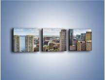 Obraz na płótnie – Boston w stanie Massachusetts – trzyczęściowy AM700W1