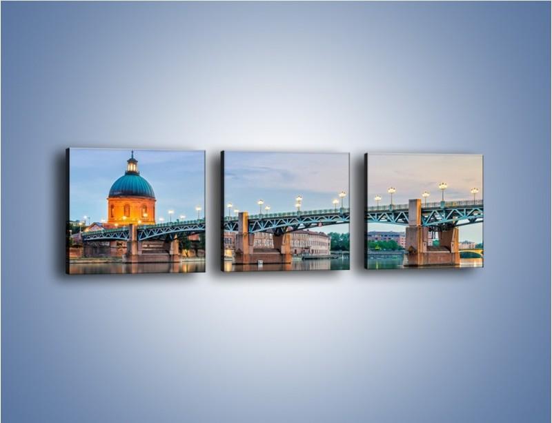 Obraz na płótnie – Most Saint-Pierre w Tuluzie – trzyczęściowy AM721W1