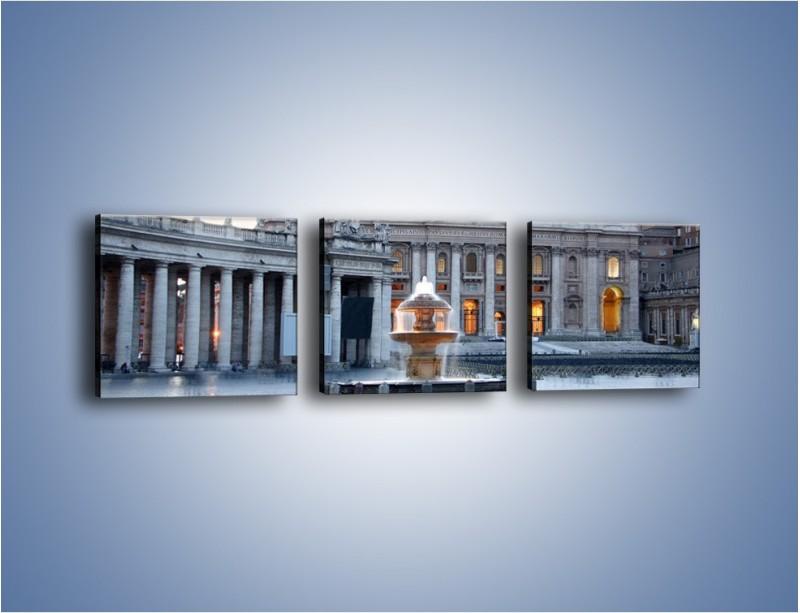 Obraz na płótnie – Bazylika św. Piotra w Watykanie – trzyczęściowy AM722W1