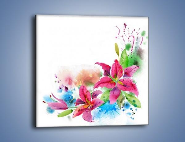 Obraz na płótnie – Kwiaty jak z bajki – jednoczęściowy kwadratowy GR042