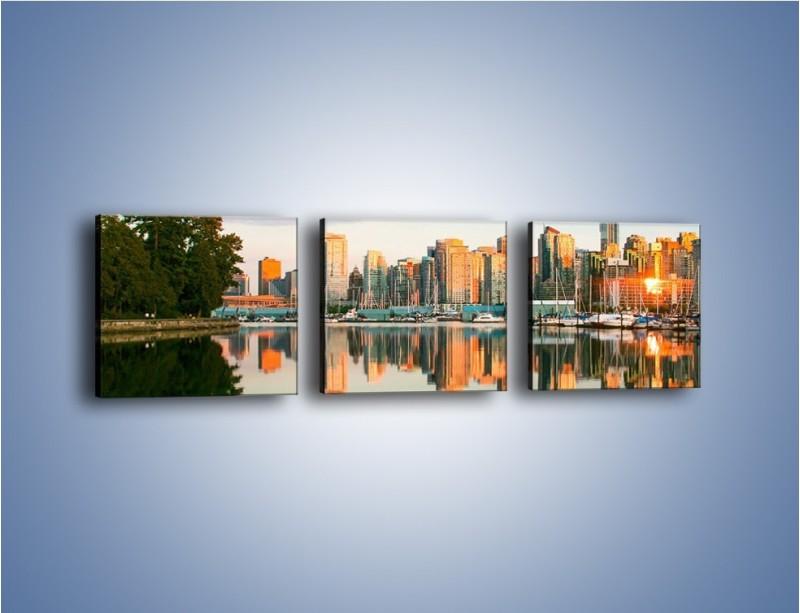 Obraz na płótnie – Widok na Vancouver – trzyczęściowy AM765W1