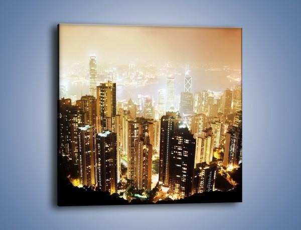 Obraz na płótnie – Miasto widziane z góry – jednoczęściowy kwadratowy AM007