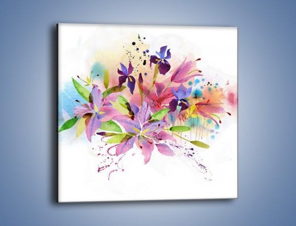 Obraz na płótnie – Kolory zachowane w kwiatach – jednoczęściowy kwadratowy GR043