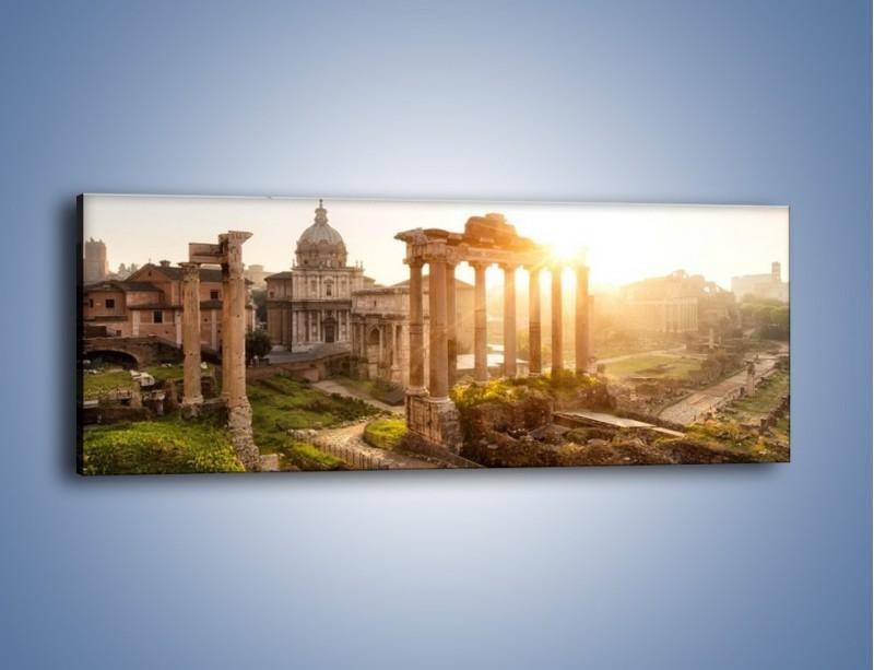 Obraz na płótnie – Starożytna architektura Rzymu – jednoczęściowy panoramiczny AM638