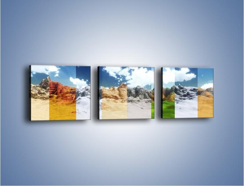 Obraz na płótnie – Paskiem w kolor – trzyczęściowy GR111W1