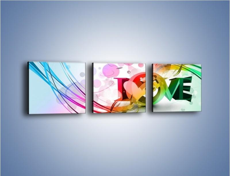 Obraz na płótnie – Przez kolor aż do miłości – trzyczęściowy GR124W1