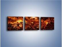Obraz na płótnie – Bitwa z demonami – trzyczęściowy GR137W1