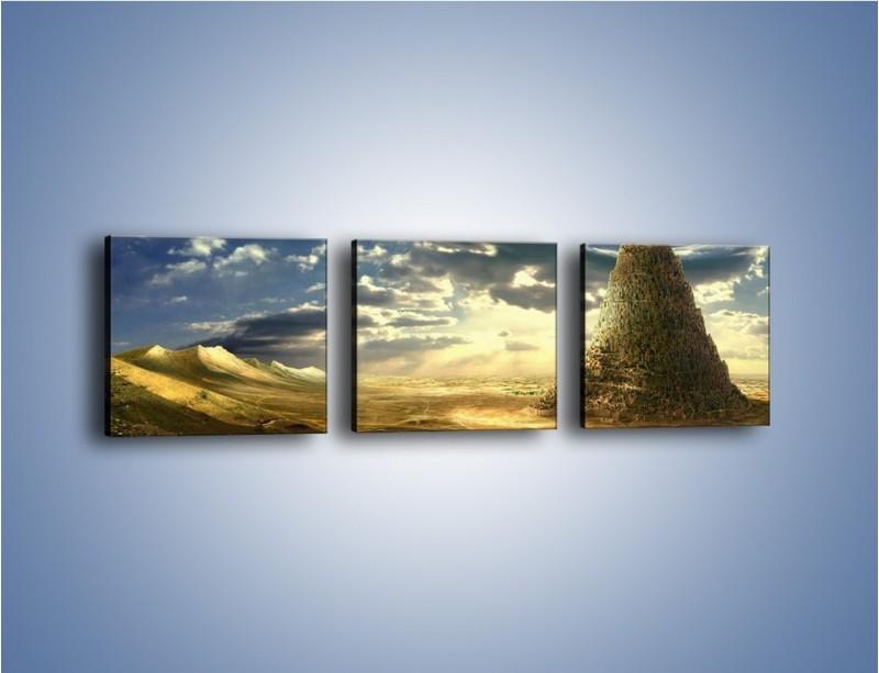 Obraz na płótnie – Przez górę aż do chmur – trzyczęściowy GR139W1