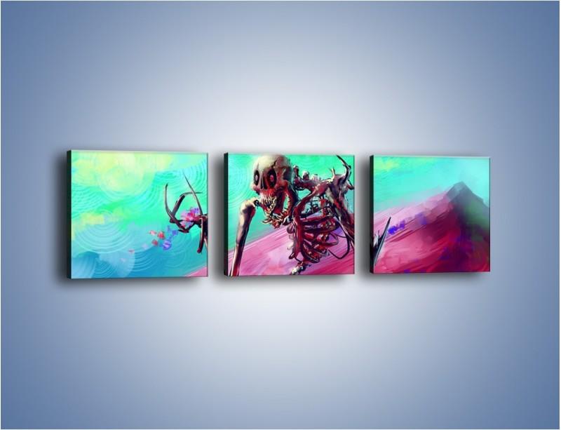 Obraz na płótnie – Kolory ze strachem – trzyczęściowy GR158W1