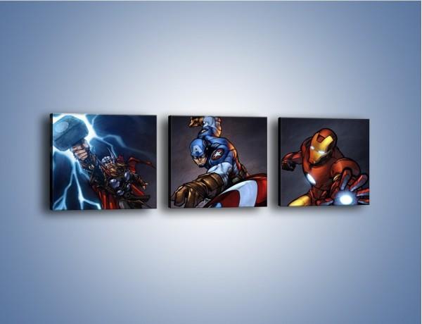 Obraz na płótnie – Trzech głównych bohaterów – trzyczęściowy GR161W1