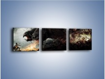 Obraz na płótnie – Groźny podmuch potworów – trzyczęściowy GR174W1