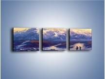 Obraz na płótnie – Górskim szlakiem z cudnym widokiem – trzyczęściowy GR194W1