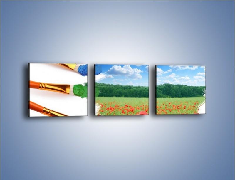 Obraz na płótnie – Moc w każdym kolorze – trzyczęściowy GR202W1