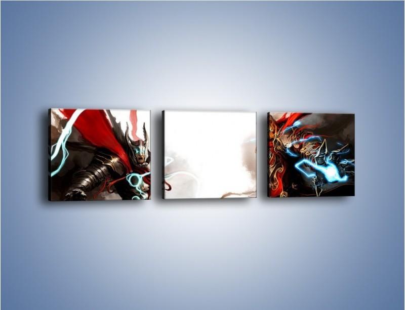 Obraz na płótnie – Walka z potężną siłą – trzyczęściowy GR207W1
