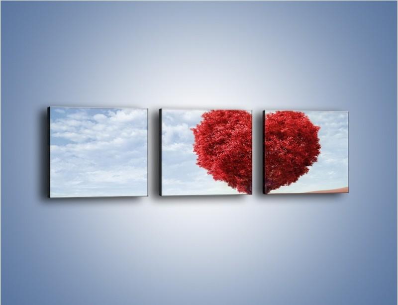 Obraz na płótnie – Polaną w stronę miłości – trzyczęściowy GR249W1