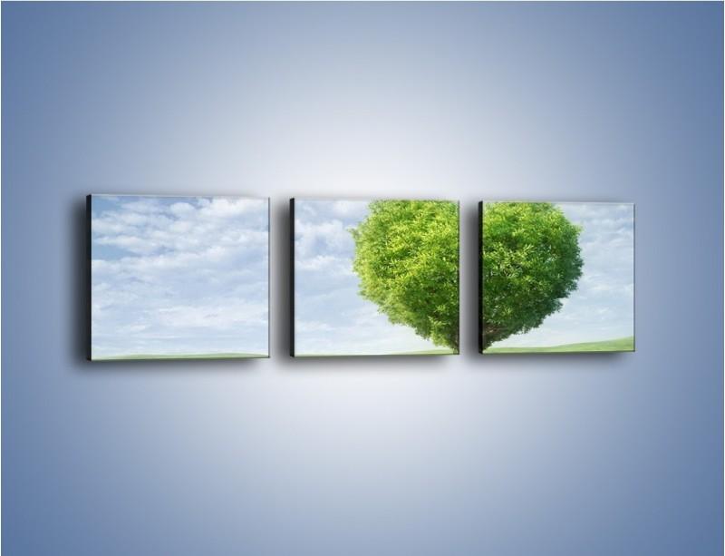 Obraz na płótnie – Miłość w zieleni – trzyczęściowy GR250W1