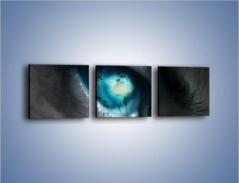 Obraz na płótnie – Oko otwarte na świat – trzyczęściowy GR256W1