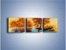 Obraz na płótnie – Drzewa nad samą wodą – trzyczęściowy GR352W1