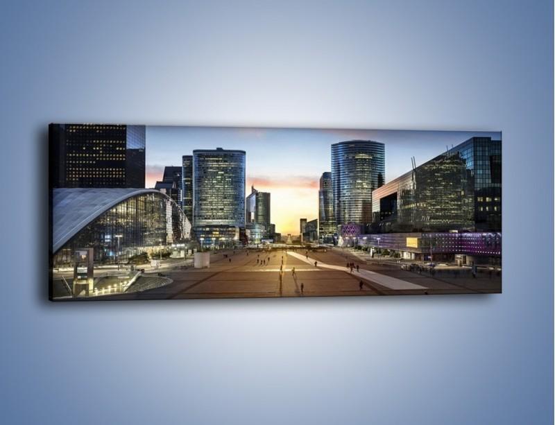 Obraz na płótnie – Quartier La Défense w Paryżu – jednoczęściowy panoramiczny AM647
