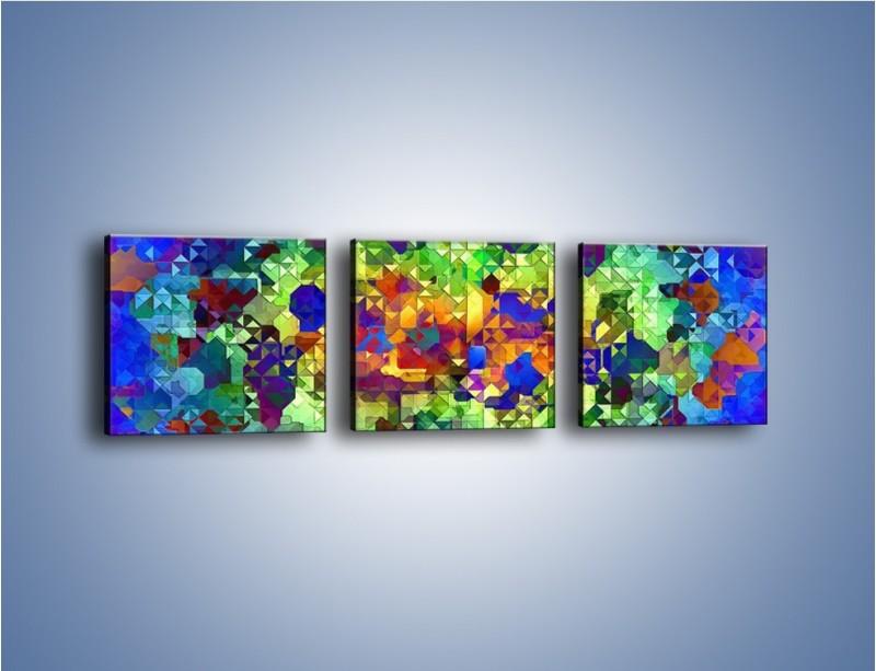 Obraz na płótnie – Mozaika w kolorze – trzyczęściowy GR373W1