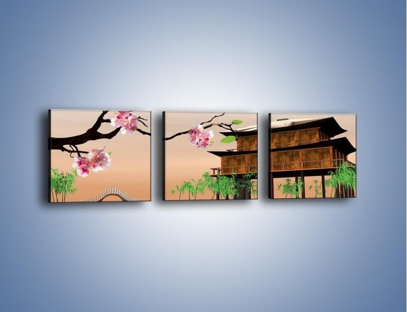 Obraz na płótnie – Pamiątka z japonii – trzyczęściowy GR386W1