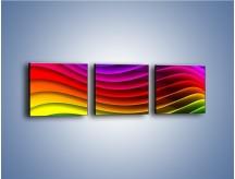 Obraz na płótnie – Falą w kolorze – trzyczęściowy GR393W1