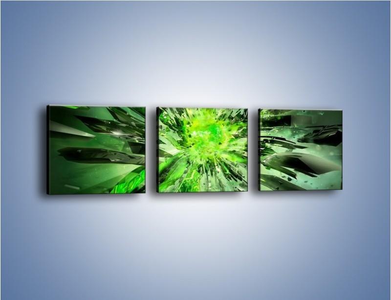 Obraz na płótnie – Ostre kawałki zieleni – trzyczęściowy GR422W1
