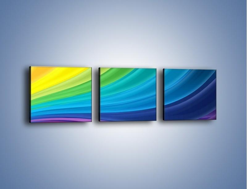 Obraz na płótnie – Zachowane kolory tęczy – trzyczęściowy GR424W1