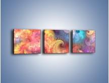 Obraz na płótnie – Głębia kolorów – trzyczęściowy GR429W1